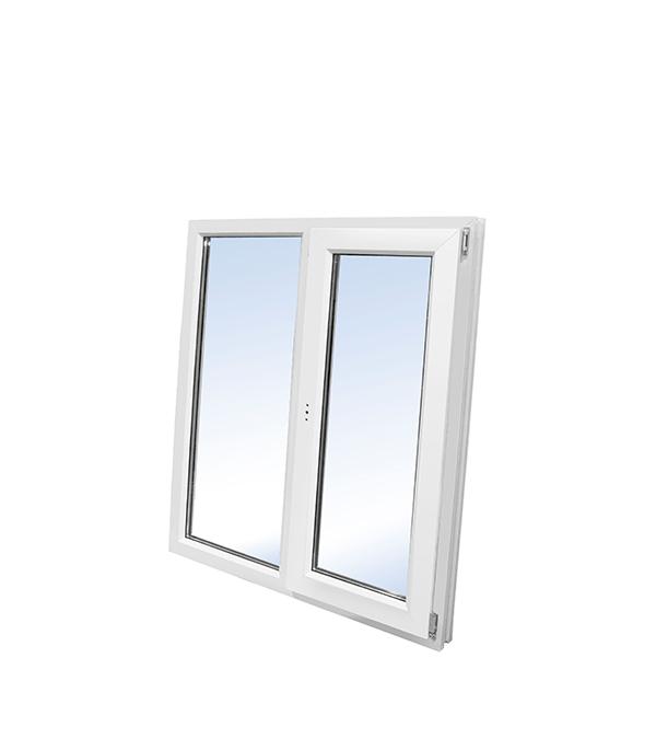 Окно ПВХ WHS 1160х1200 мм двухсекционное левое глухое/ правое поворотно-откидное