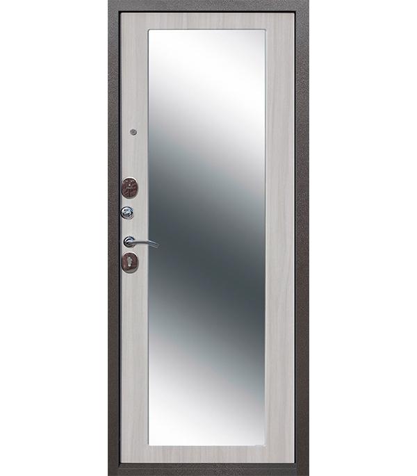 Дверь входная Ferroni Троя MAXI левая серебряный антик 860х2050 мм