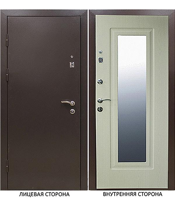 Дверь входная Тоун Тонус 400 левая коричневый 860х2050 мм