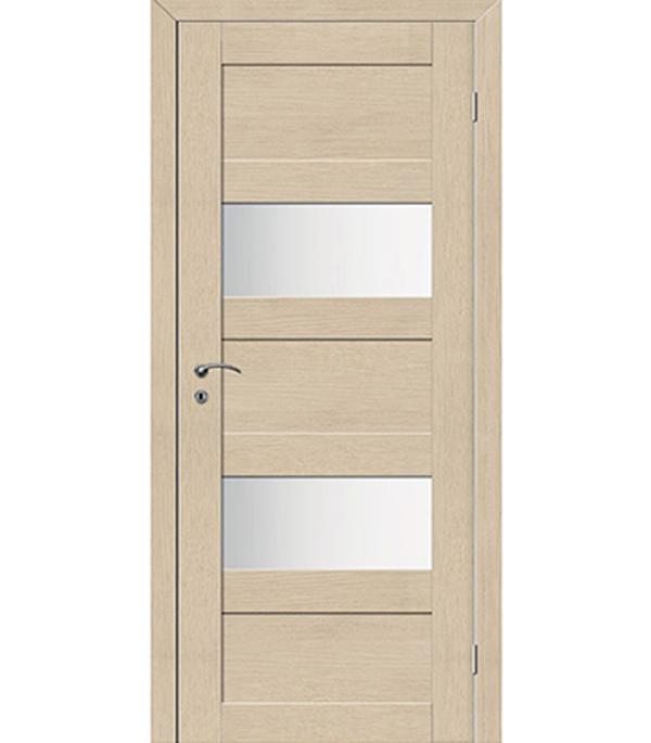 Дверное полотно VellDoris TREND 5P капучино со стеклом мдф экошпон 620×2000 мм