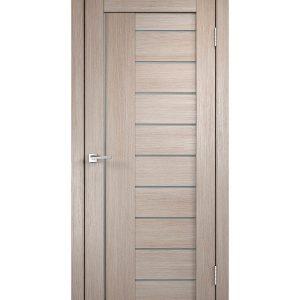 Дверное полотно VellDoris VISION 2 капучино со стеклом мдф экошпон 600x2000 мм