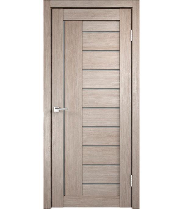 Дверное полотно VellDoris VISION 2 капучино со стеклом мдф экошпон 600×2000 мм