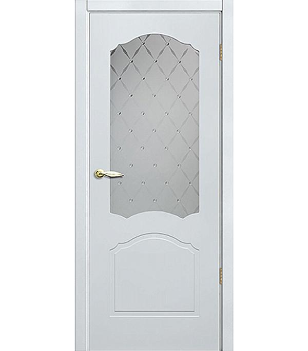 Дверное полотно Принцип Арктика белое со стеклом мдф эмаль 700×2000 мм